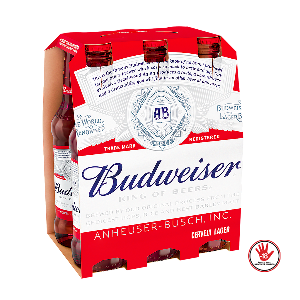 [10409] Cerveja Budweiser Long Neck 6x330ml