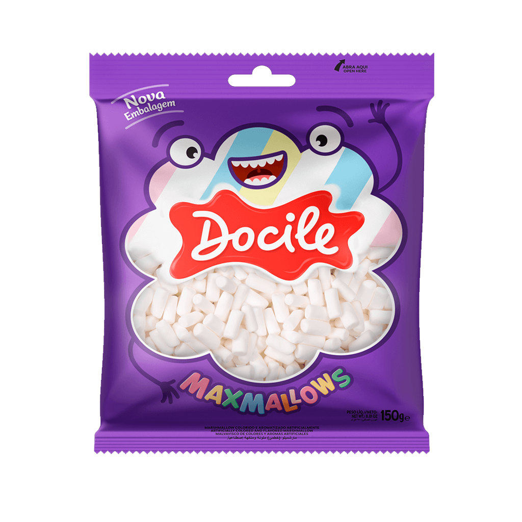[84390] Maxmallows Mini Tubo Branco Docile 150g
