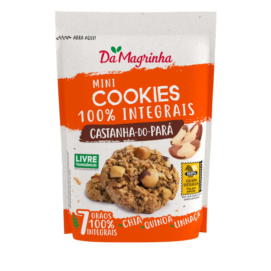 [87572] Cookies 100% Integral Castanha do Pará Da Magrinha 150g